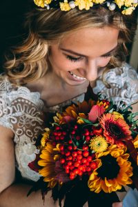 Colour bouquet bride wedding grafton
